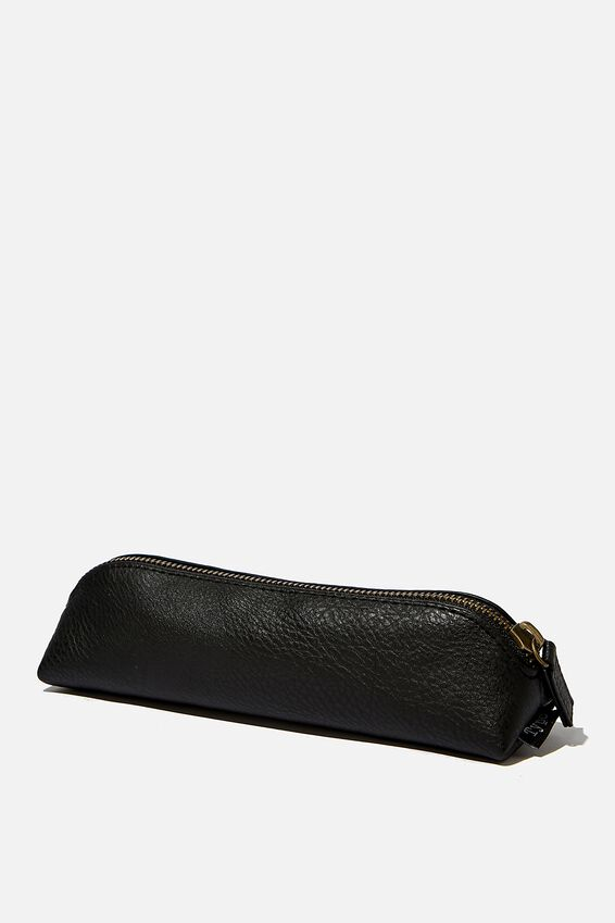 Buffalo Barrel Pencil Case, BLACK