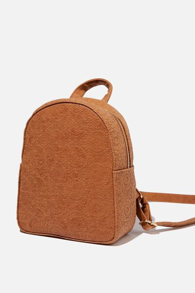 Mini Arch Backpack, TILE TOOLED MID TAN
