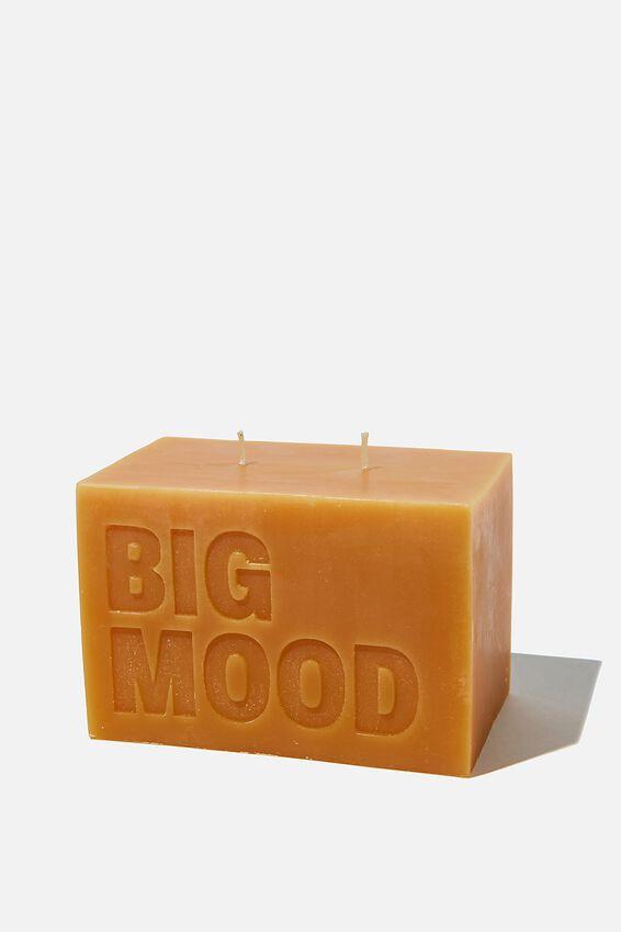 Large Block Candle, BIG MOOD MUSTARD