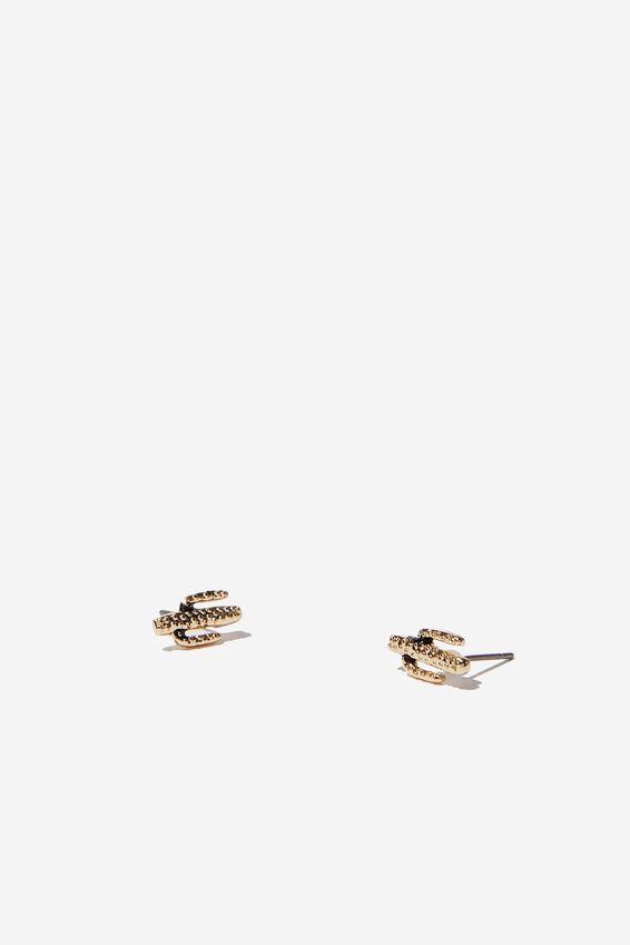 Novelty Earrings, CACTUS