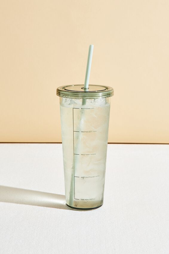 Sipper Smoothie Cup, GUM LEAF