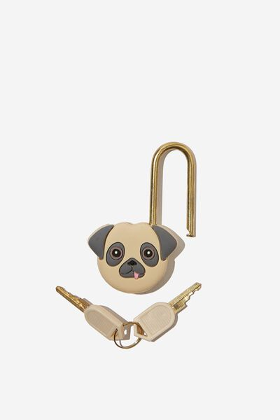 Novelty Silicone Travel Lock, PUG