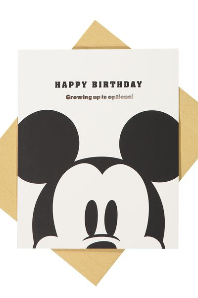 Nice Birthday Card, LCN MICKEY GROWING UP IS OPTIONAL