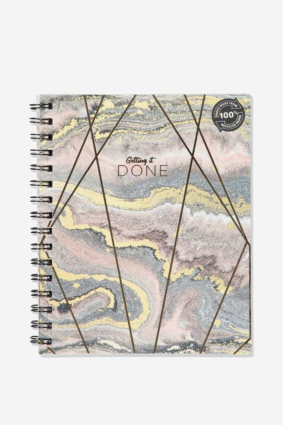 A5 Campus Notebook Recycled, GLITZ MARBLE