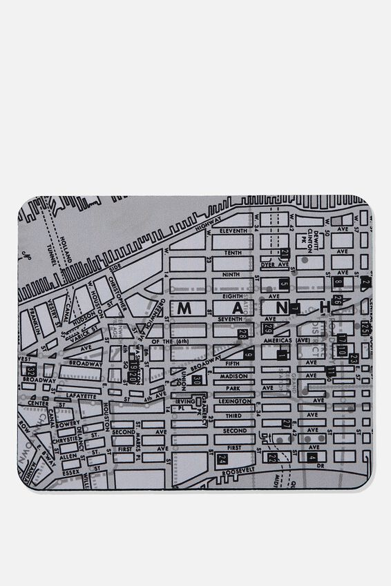 Neoprene Mouse Pad, NY MAP
