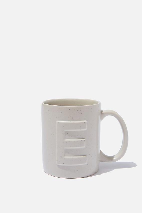 Alphabet Anytime Mug, SPECKLED E