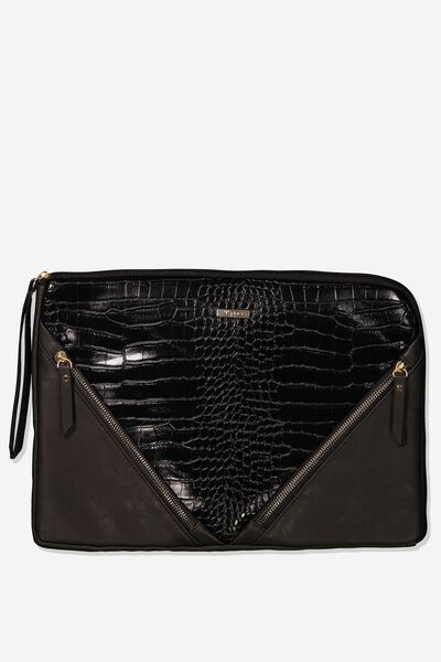 Premium Laptop Case 13 inch, BLACK CROC