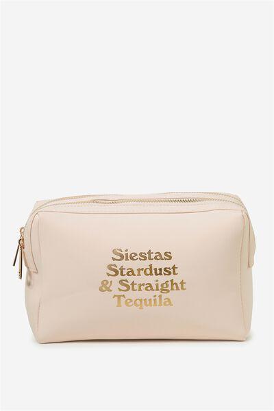 Dual Zipper Cosmetic Case, SIESTAS & STARDUST!