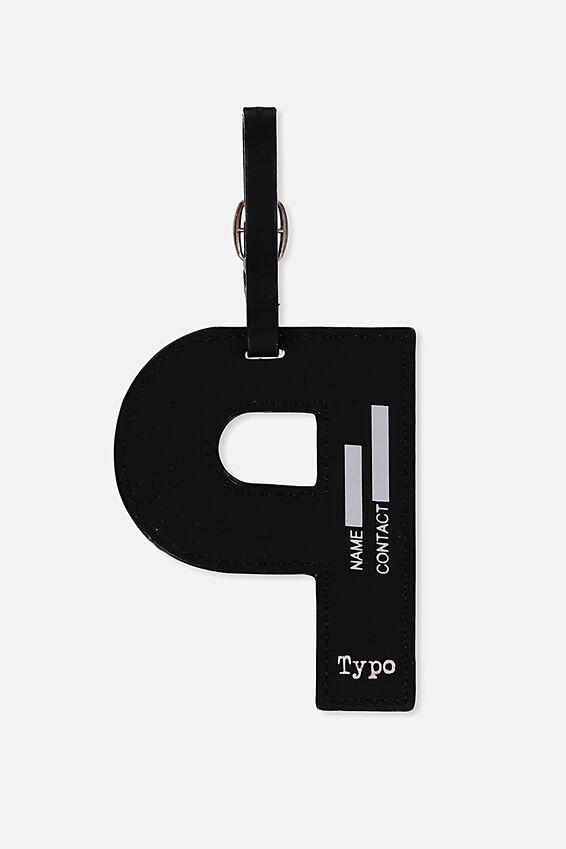 Shaped Alphabet Luggage Tag, P