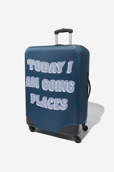 Suitcase Cover - Large, I AM GOING PLACES