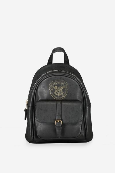 Mini Buffalo Backack, LCN BLACK HOGWARTS