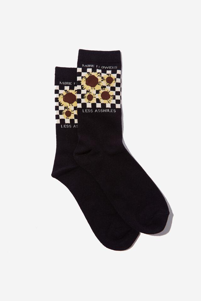 Socks, MORE FLOWERS LESS AHOLES!
