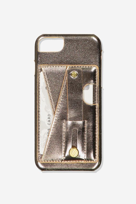 Cardholder Grip Case Iphone 6, 7, 8, ROSE GOLD