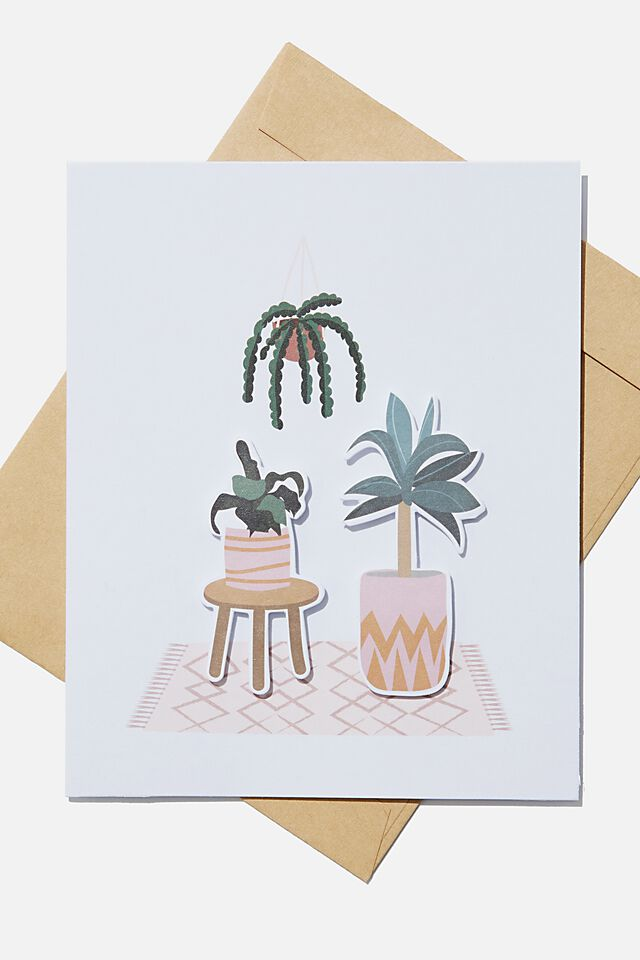Embellishment Card, PLANT TRIO