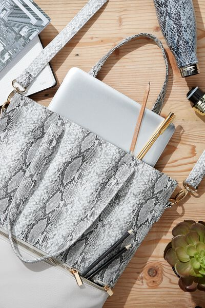 Laptop Tote Bag 13 inch, SNAKE PRINT
