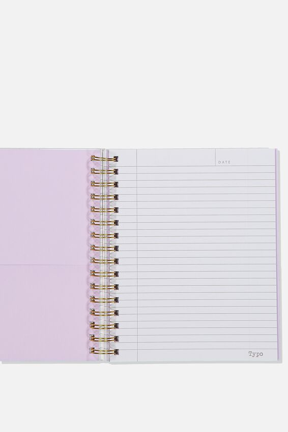 "A5 Campus Notebook-V (8.27"" x 5.83""), PURPLE LACE"