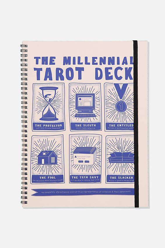 A4 Spinout Notebook Recycled, TAROT DECK