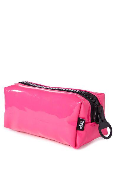 Zip Me Up Pencil Case, PINK & BLACK