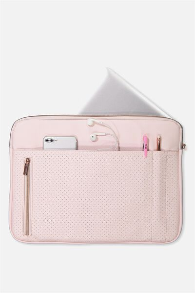 Take Charge 15 Inch Laptop Cover, BLUSH PERFORATED