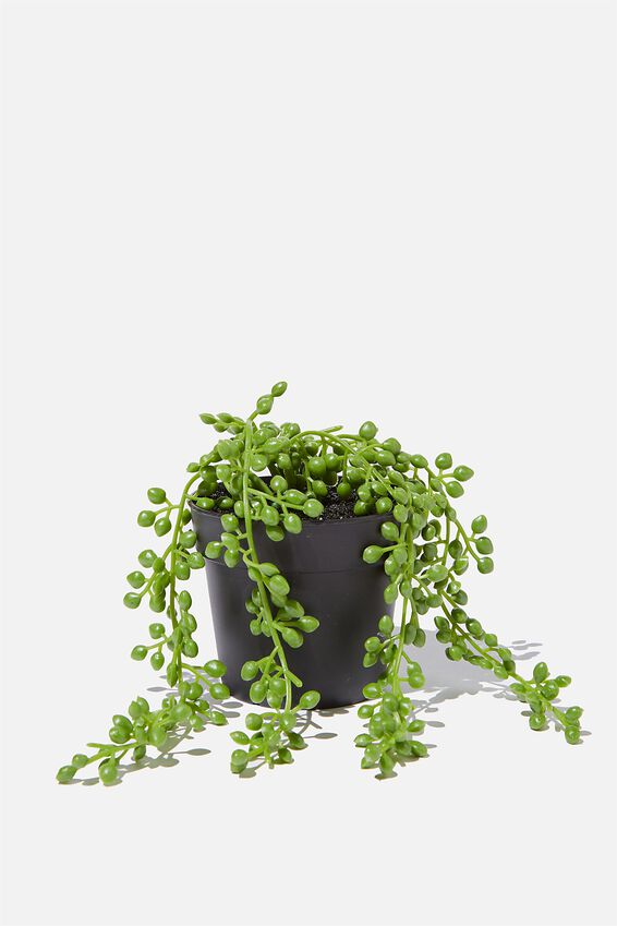 Faux Real - Small Hanging Plant, STRING OF PEARLS