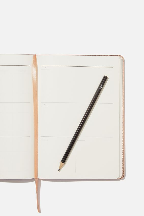A5 Undated Weekly Buffalo Diary, ROSE GOLD