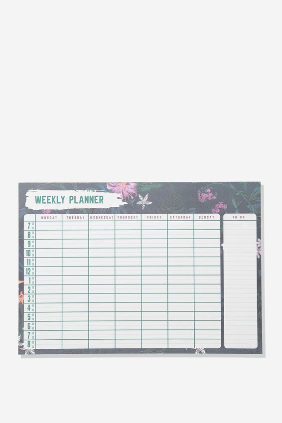 A4 Plan Ahead Planner, EMERALD WEEKLY PLANNER