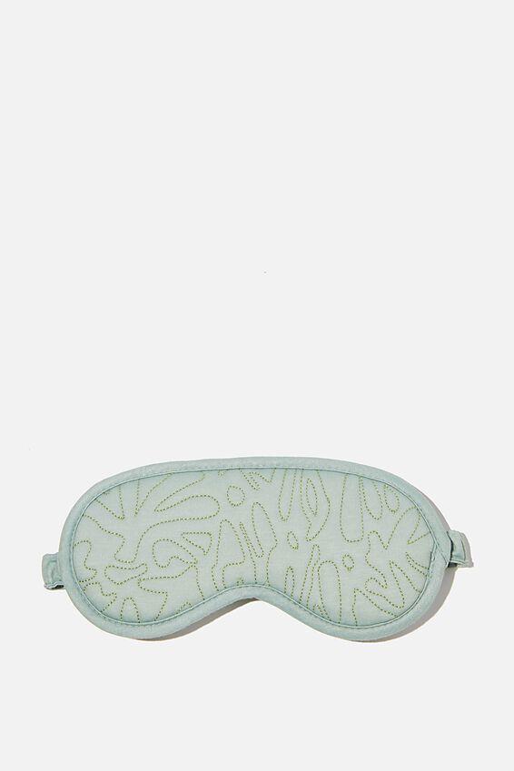Premium Sleep Eye Mask, GUM LEAF ABSTRACT QUILTING