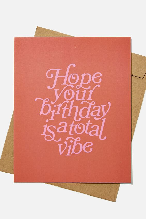 Nice Birthday Card, TOTAL VIBE BIRTHDAY