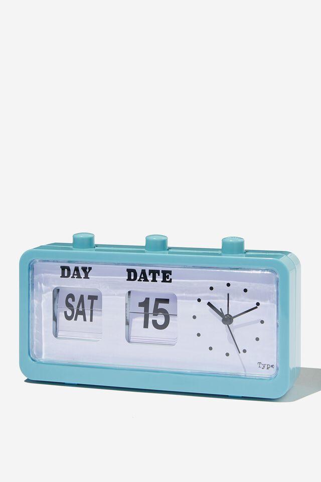 Retro Flip Clock, DENIM BLUE
