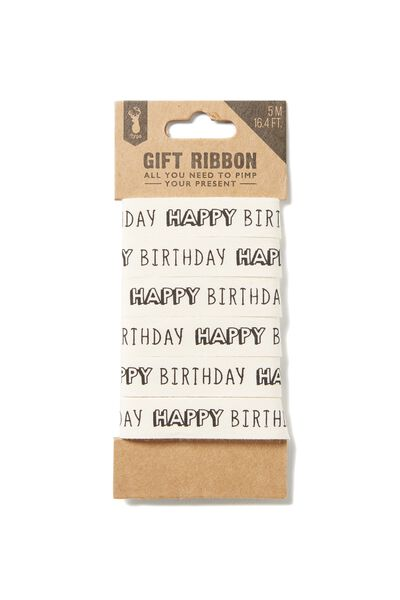 Printed Gift Ribbon, HAPPY BIRTHDAY