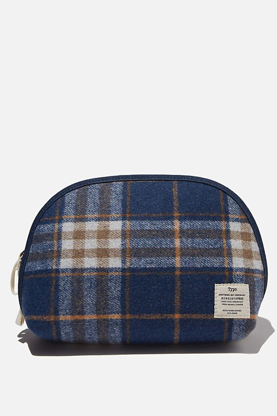 Essential Pouch, NAVY CHECK