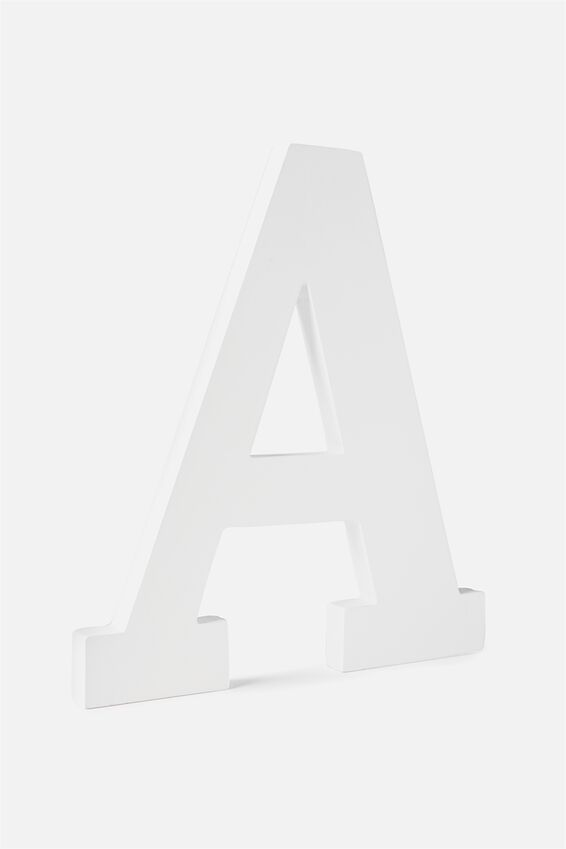 Large Letterpress Letter, WHITE A