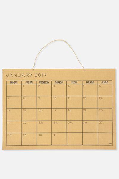 2019 A2 Calendar, KRAFT