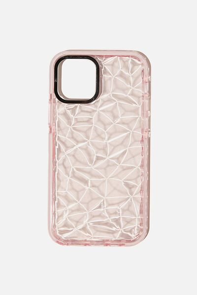 Snap On Protective Phone Case Iphone 12, 12 Pro, CLEAR DIAMOND TEXTURE