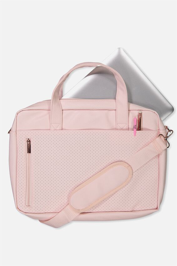 "Take Charge Laptop Bag 15"", BLUSH PERFORATED"