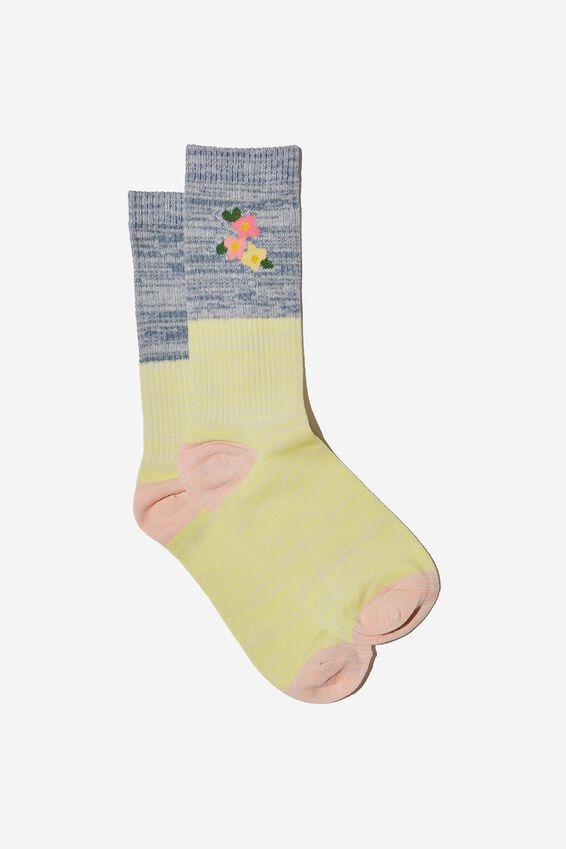 Socks, FLORAL MELANGE