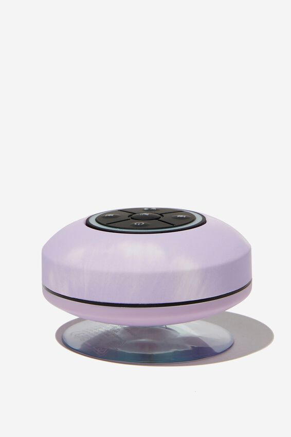 Wireless Led Shower Speaker, PALE LILAC TIE DYE 2.0