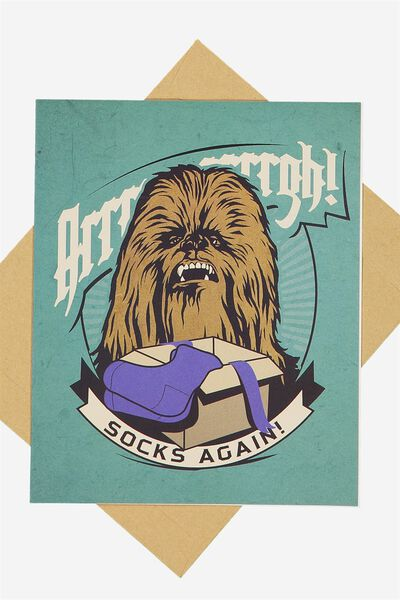 Funny Birthday Card, LCN CHEWIE SOCKS