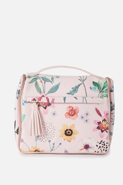 Hanging Toiletry Bag, FLORAL PRINT