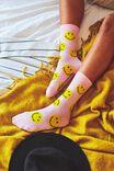 Smiley Socks, LCN SMI PINK FACES