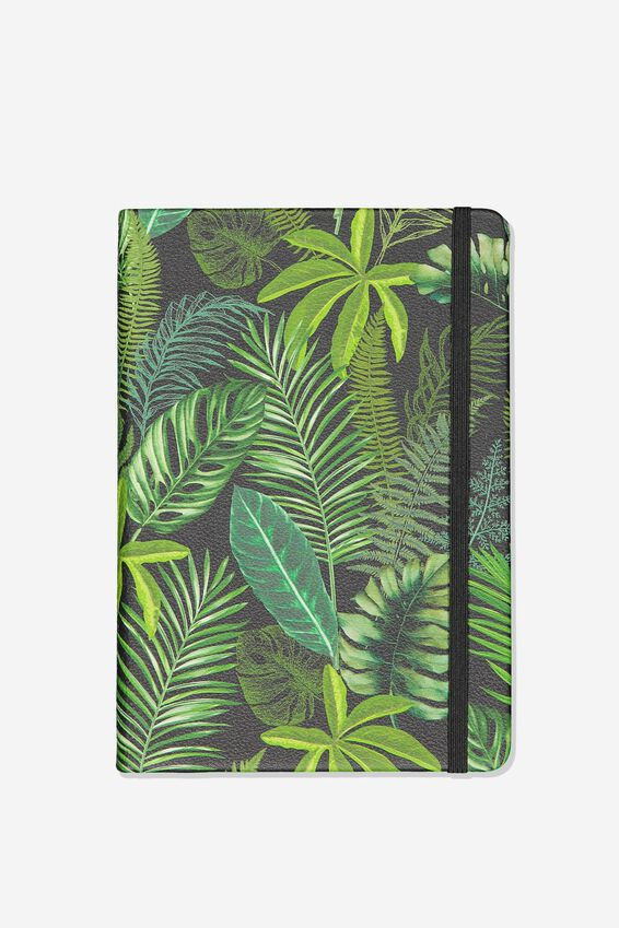 A5 Blank Buffalo Journal, FERN FOLIAGE