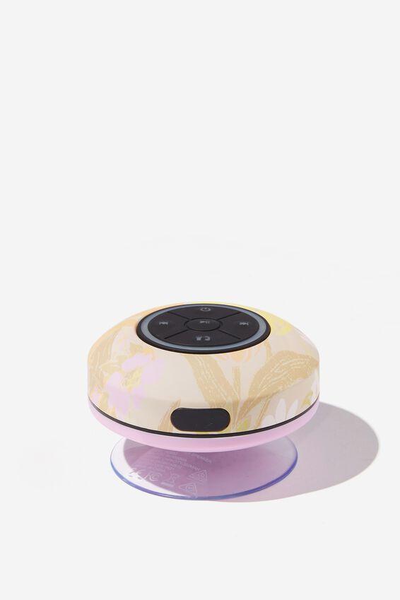 Wireless Led Shower Speaker, SAND GOLDIE FLORAL 2.0