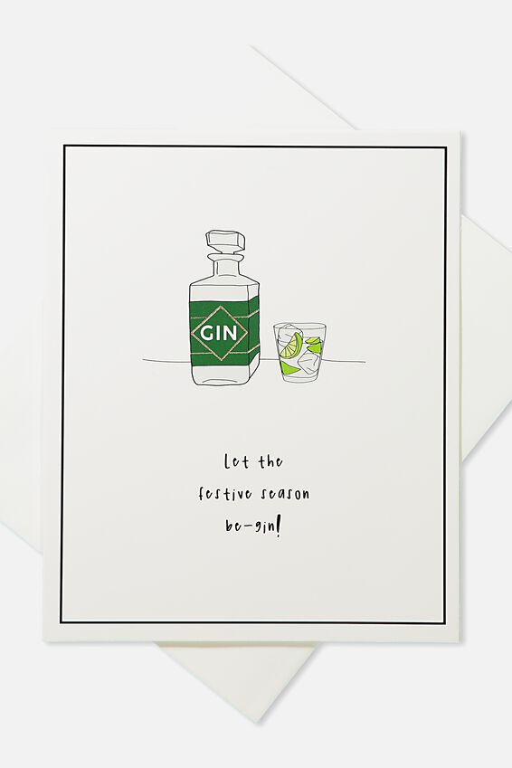 2018 Christmas Card, SCENTED FESTIVE SEASON BE GIN!