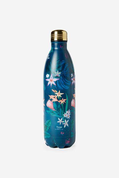 1L Metal Drink Bottle, JUNGLE FLORAL
