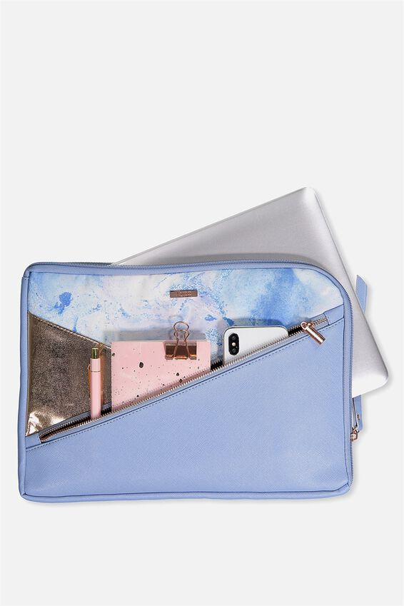 Premium Laptop Case 13 inch, BLUE MARBLE