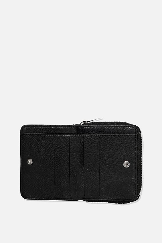 Rfid Mini Wallet, BLACK SPLATTER