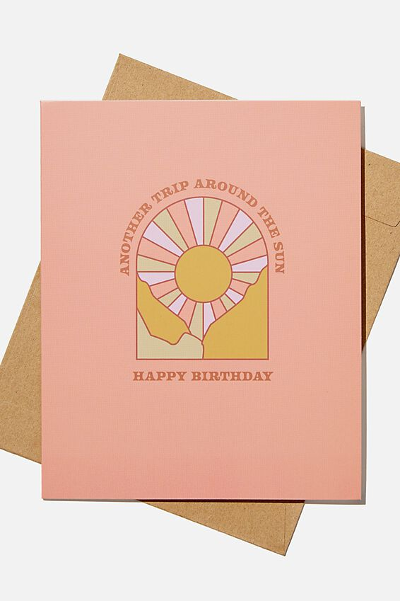 Nice Birthday Card, ANOTHER LAP AROUND THE SUN