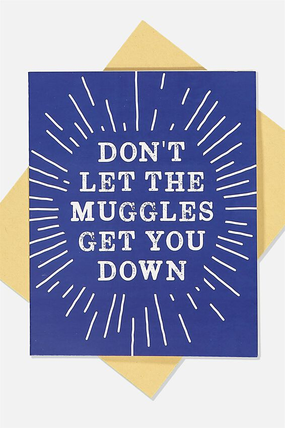 Harry Potter Nice Birthday Card, LCN WB HPO GET YOU DOWN