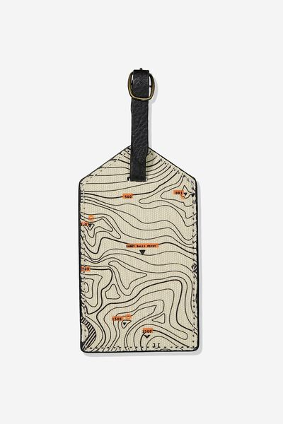 Luggage Tag, TOPOGRAPHIC MAP!