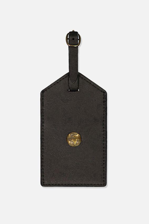 Luggage Tag, BLACK WORLD GLOBE
